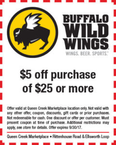 Buffalo Wild Wings BTS Mailer
