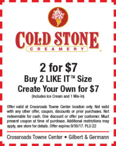 Cold Stone BTS Mailer
