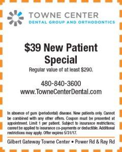 Towne Center Dental Spring Mailer