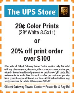 The UPS Store Spring Mailer