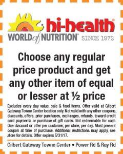 hi-health Spring Mailer