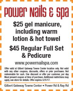 Power Nails & Spa Spring Mailer