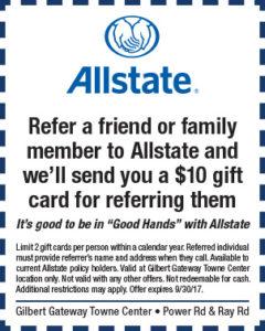 Allstate BTS Mailer