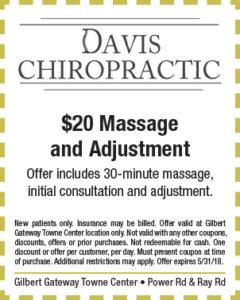 Davis Chiropractic Spring Coupon
