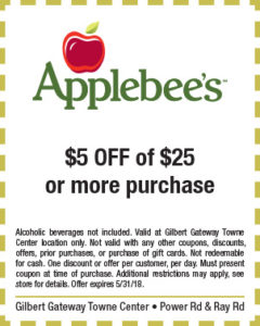Applebee's Spring Coupon