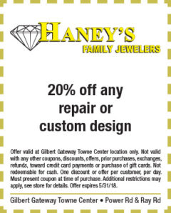 Haney's Family Jewelers Spring Coupon