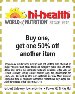 Hi-Health Spring Coupon