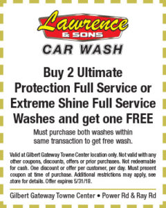 Lawrence & Sons Car Wash Spring Coupon
