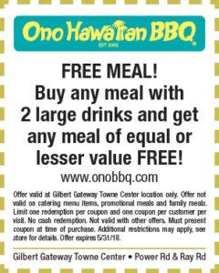 Ono Hawaiian BBQ Spring Coupon