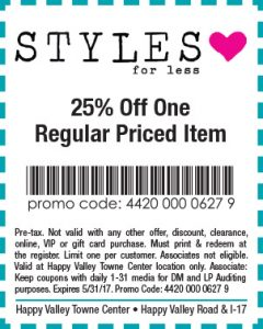 Styles for Less Spring Coupon