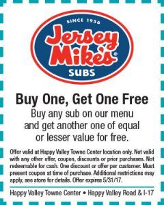 Jersey Mike's Spring Coupon