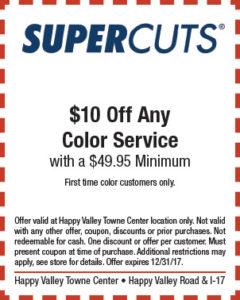 Supercuts Holiday Coupon