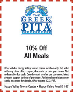 Greek Pita Holiday Coupon