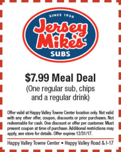 Jersey Mike's Holiday Coupon