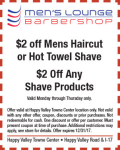 Men's Lounge Holiday Coupon