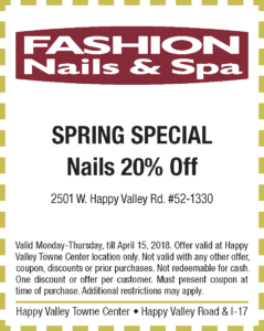 Fashion Nails and Spa Spring Coupon