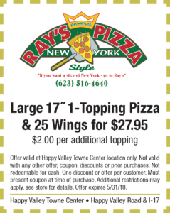 Rays Pizza Spring Coupon