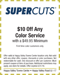 Supercuts Spring Coupon