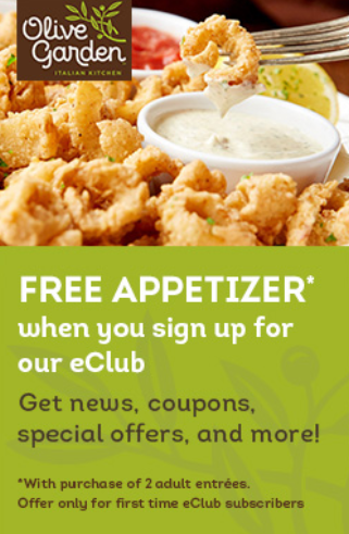 Happy Valley Towne Center | HVTC Olive Garden Free appetizer
