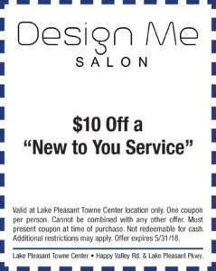 Design Me Salon Spring Coupon
