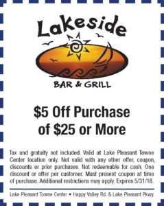Lakeside Bar & Grill Spring Coupon