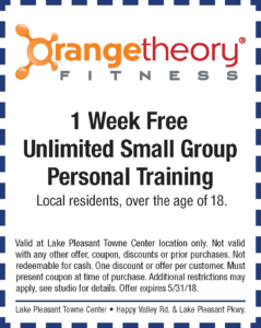 Orange Theory Spring Coupon