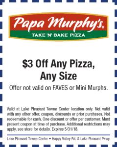 Papa Murphy's Spring Coupon