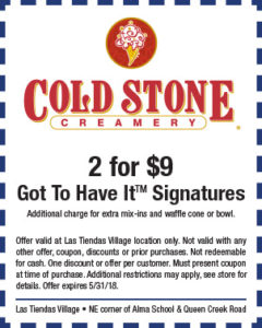 Cold Stone Spring Coupon